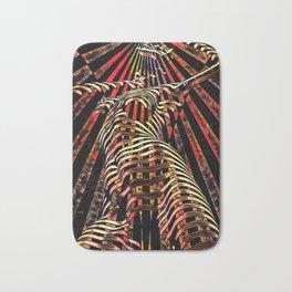 7068-KMA Abstract Feminine Spirit Zebra Striped Woman Powerful Colorful Fine Art Nude Bath Mat