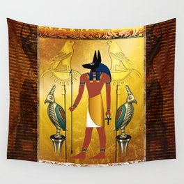 Anubis the egyptian god Wall Tapestry