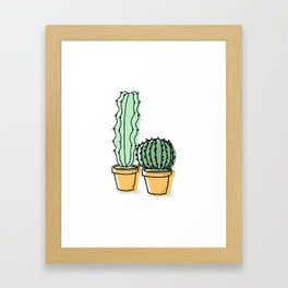 Cactus Pals Framed Art Print