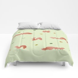 Red Squirrels Comforters