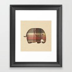 Plaid Elephant  Framed Art Print