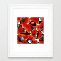 70s Framed Art Prints featuring orange 70s by Matthias Hennig