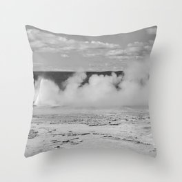 Geyser spewing Throw Pillow