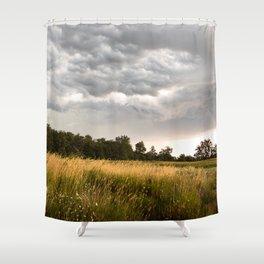 Stormy fields Shower Curtain