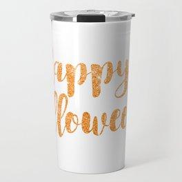 Happy Halloween | Orange Glitter Travel Mug