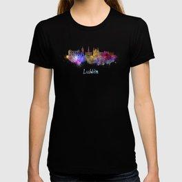 Lublin skyline in watercolor T-shirt