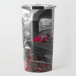 Tanzanian Red Flower Travel Mug
