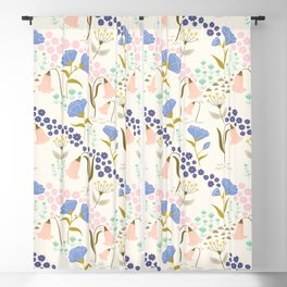 Tulips and Roses Blackout Curtain