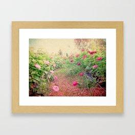 Romance in the fields Framed Art Print