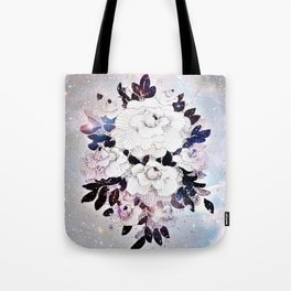 flowers in the stars Tote Bag
