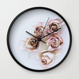 Flowered Milk Wall Clock