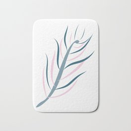 Delicate Lutescens (Whimsical Tropical Series) Bath Mat