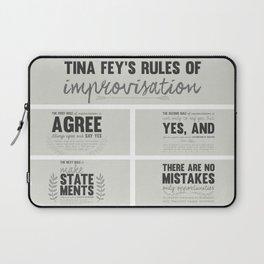 Tina Fey's Rules of Improvisation Laptop Sleeve