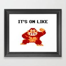 It's On Like Donkey Kong Framed Art Print