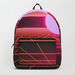 Retro 80s Grid 'Into the Void' Backpack