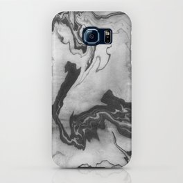 Hiroto - ink japanese marble paper free monoprint pattern marbled cell phone case india ink painting iPhone Case