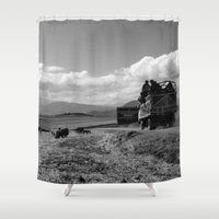 peru Shower Curtains featuring Peru Journey NO3 by Julia Aufschnaiter
