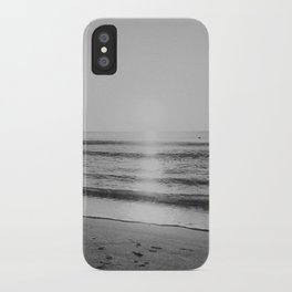 HALF MOON BAY VII (B+W) iPhone Case