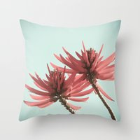 west coast Throw Pillows featuring West Coast Nature 2 by Leah M. Gunther Photography & Design