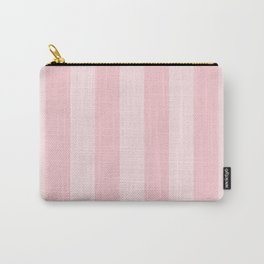 Large Light Millennial Pink Pastel Circus Tent Stripe Carry-All Pouch