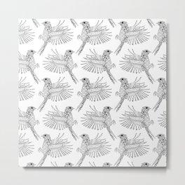 phoenix pattern Metal Print