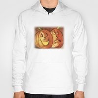 lanterns Hoodies featuring Jack-O-Lanterns by Jeff Moser Watercolorist