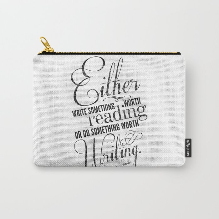 Benjamin Franklin Quote Carry-All Pouch