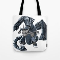 charizard Tote Bags featuring Meta Charizard by VictorVieitez