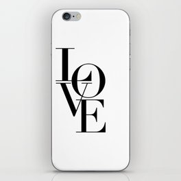 LOVE IS SWEET, Love Sign,Love Art,Wedding Decor,Anniversary Quote,Love Symbol,Love you more iPhone Skin
