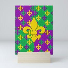 Mardi Gras Fleur-de-Lis Pattern Mini Art Print