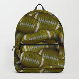 Yellow Footballs Everywhere Backpack