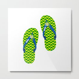 Brazilian flip flops Metal Print
