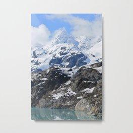 Cornice on mountain in Alaska Metal Print