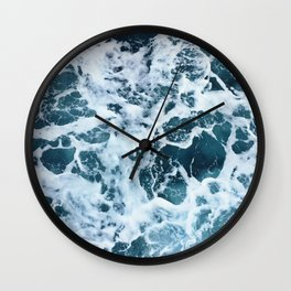 Water Foam Sea Wall Clock