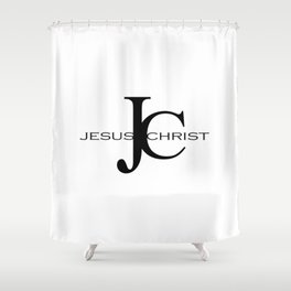 Jesus Christ, Christian Bible verse Quote Shower Curtain