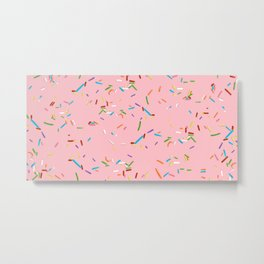 Pink With a Chance of Sprinkles - Colorful Pattern Metal Print