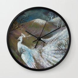 Fairytale of snow Wall Clock