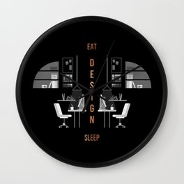 Eat Sleep Design Copper Wall Clock