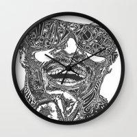 stevie nicks Wall Clocks featuring Stevie Wonder by Travis Poston