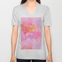 Coral Reef in Pink Unisex V-Neck