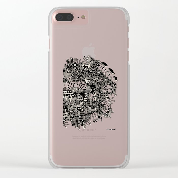 - city of april - Clear iPhone Case