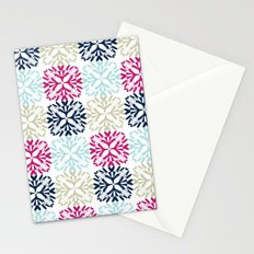 Floral Geometric - Navy & Pink Stationery Cards
