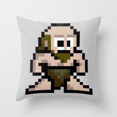 8Bit Caveman Throw Pillow
