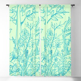 Garden in Green Blackout Curtain