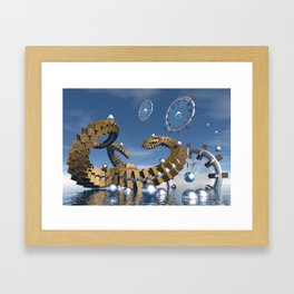 Time chasers Framed Art Print