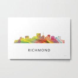 Richmond, Virginia Skyline WB1 Metal Print