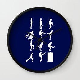 The TARDIS of Silly Walks Wall Clock