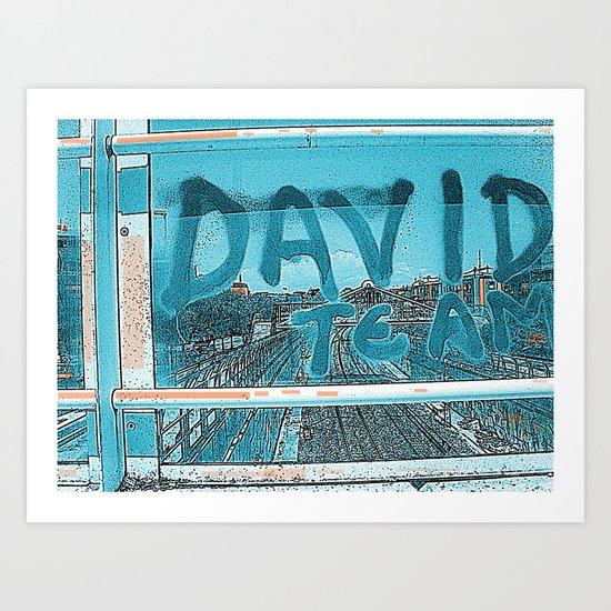 DAVID TEAM Art Print