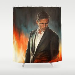 He Who Fights Monsters Shower Curtain