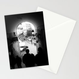 Salida Secreta de la Plaza Mayor - B&W street photography Stationery Cards